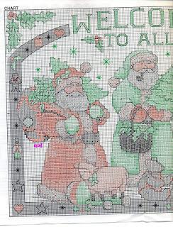 Un altro bellissimo schema a punto croce  per Natale.