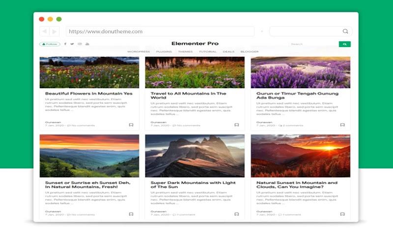 Elementer Pro Responsive Blogger Template - Responsive Blogger Template