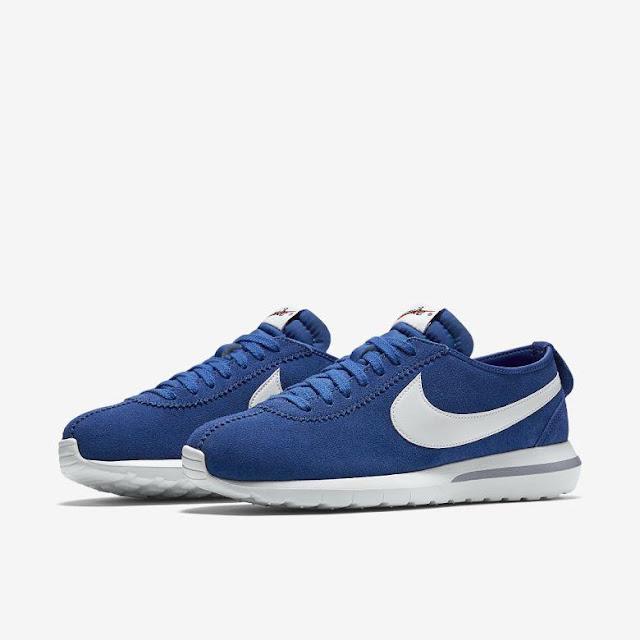Roshe Cortez NikeLab azul silhueta