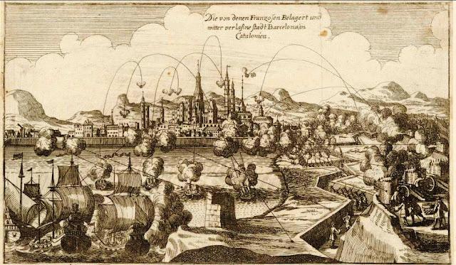 Stampa assedio Barcellona 1714