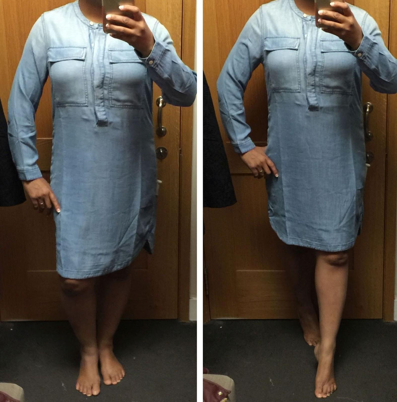 a9e35db034 J Crew drapey chambray shirt dress review Archives - Gigi s Gone ...
