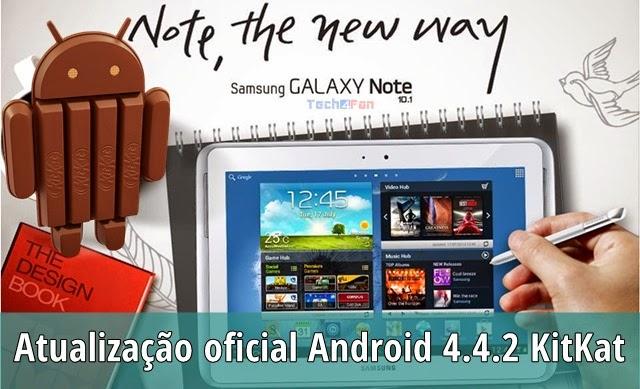 Tutorial - Atualização oficial do Galaxy Note 10 1 modelo GT-N8000