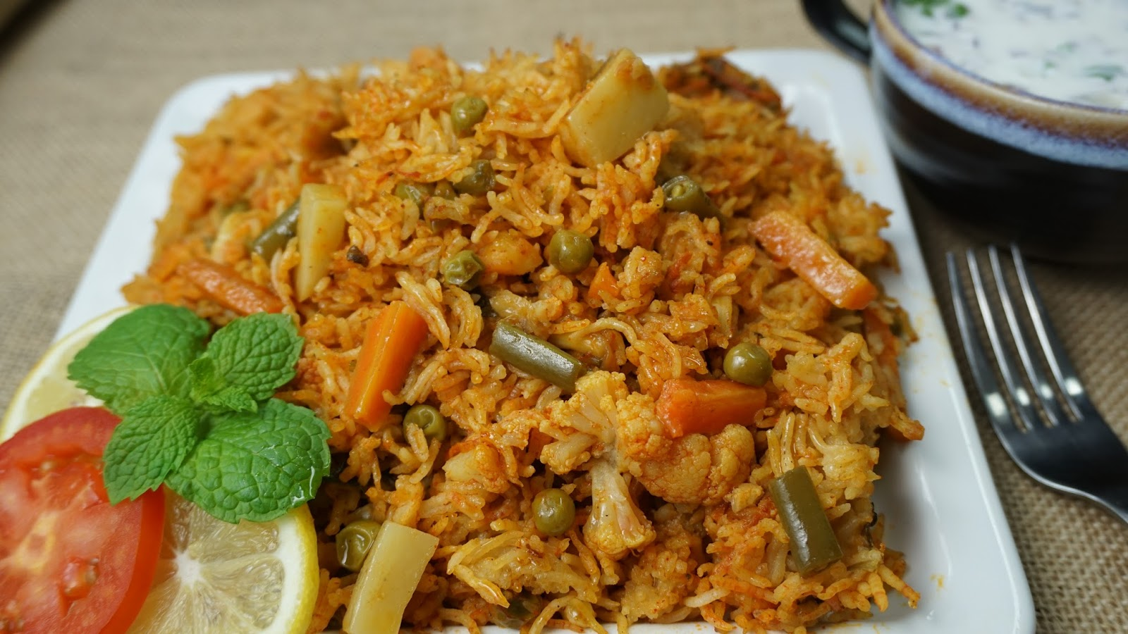 Veg Biryani Vegetable Biryani In Pressure Cooker Steffi S Recipes
