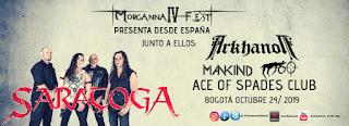 Concierto de SARATOGA 2019 | MORGANNA FEST IV Bogotá