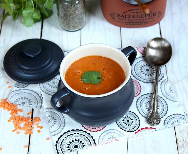 Zupa z czerwonej soczewicy z kminem