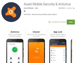 Aplikasi Anti Virus Android Paling Ampuh Nomor 1 Avast