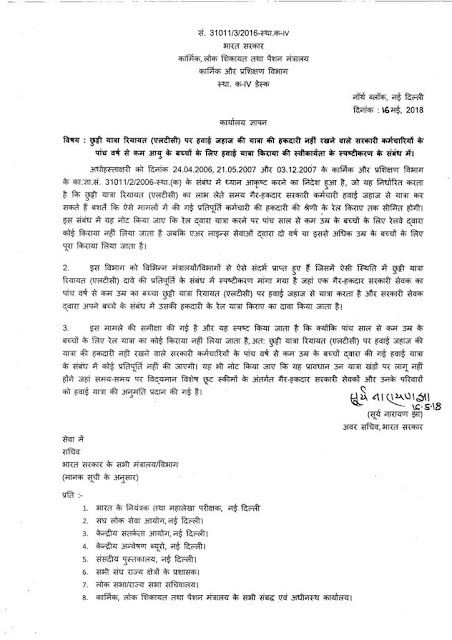 admissibility-of-children-air-fare-on-ltc-dopt-clarification-in-hindi
