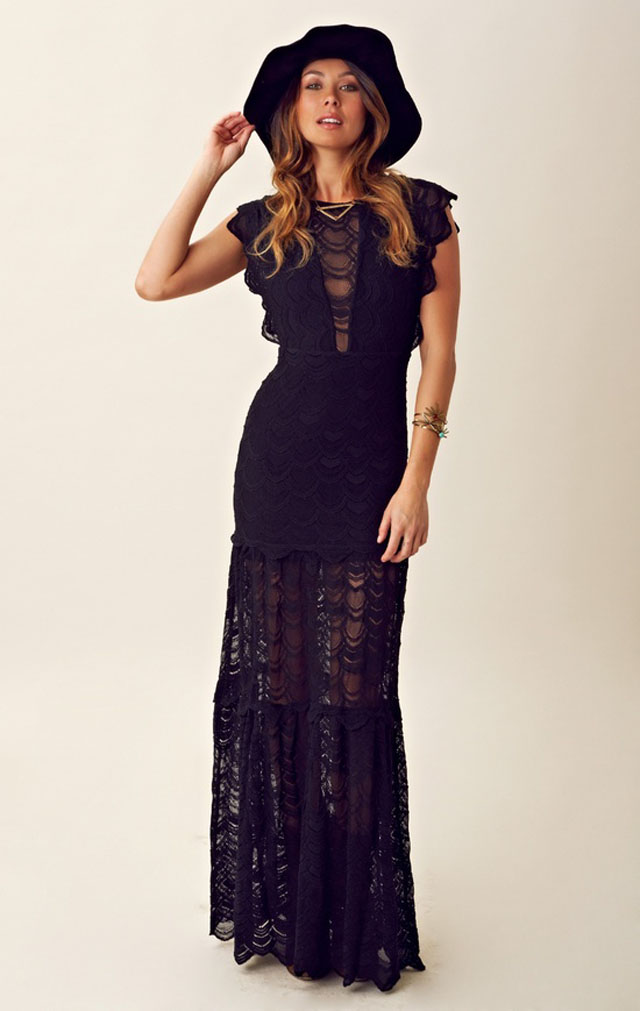 lace maxi, 90's style