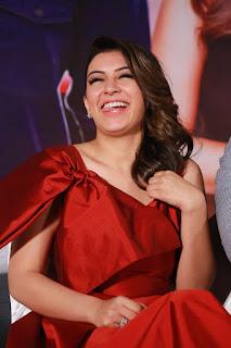 Actress Hansika Motwani Stills in Red Short Dress at Pokkiri Raja Single Track Launch  0011