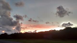 pôr do sol em Itanhaém