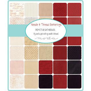 Moda Needle & Thread Gatherings Fabric by Primitive Gatherings for Moda Fabrics