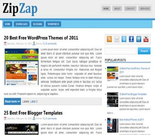 Zipzap Blogger template