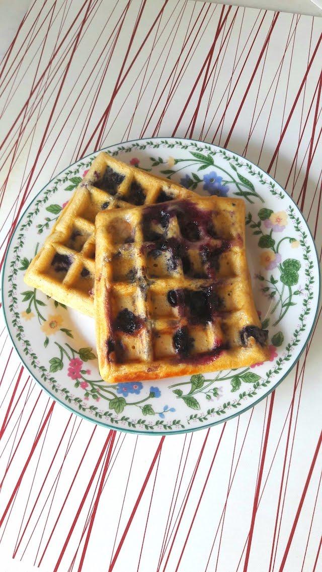 Washington Blueberries Wholewheat Waffles