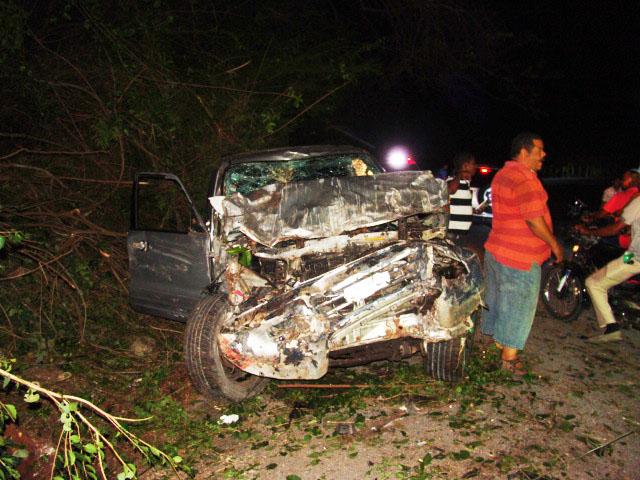 Varios heridos en 5 accidentes en La carretera La  Guázara-Barahona