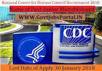 National Centre for Disease Control Recruitment 2018– Junior Microbiologist