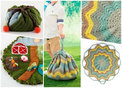 De bolsas a mantas convertibles tejidas a crochet