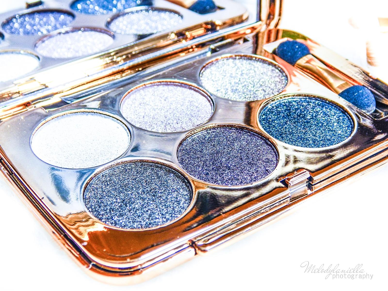 6 azjatyckie chińskie kosmetyki recenzja melodylaniella beauty paleta 6 cieni brokatowe cienie do powiek sammydress cienie do powiek ze złotem i brokatem makeup na karnawał