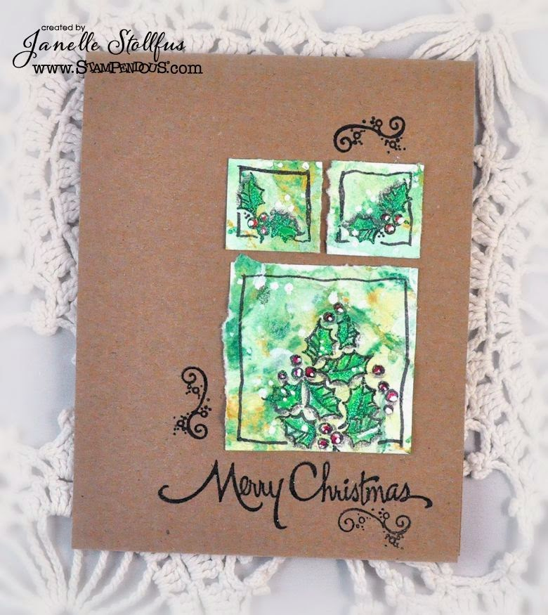 MIX97 Retro Christmas Card by Janelle Stollfus