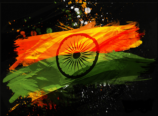 Indian Flag Graphic Wallpaper