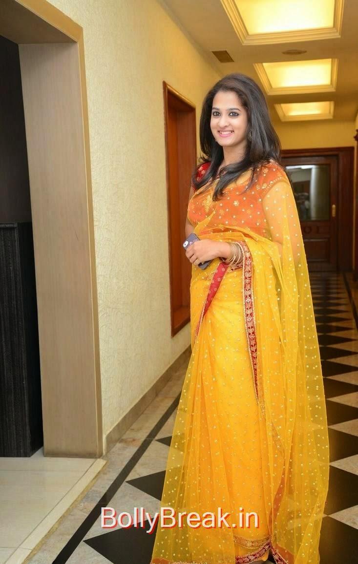 Nanditha Stills, Actress Nanditha Yellow Saree Navel pics in HD from Ram Leela Movie