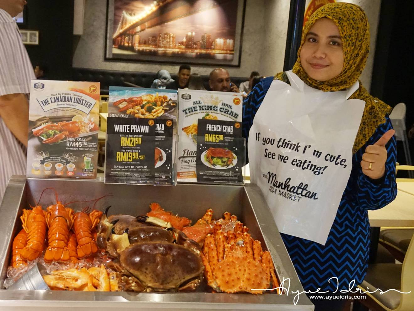 Pengalaman makan ketam terbaik di the manhattan fish for Kings fish market