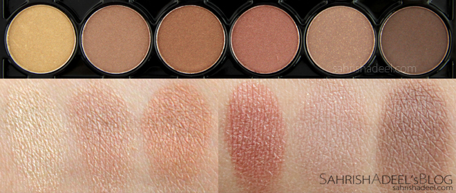 I love Eye Shadow Palette in Divine Naturals by Luscious Cosmetics - Review & Swatches