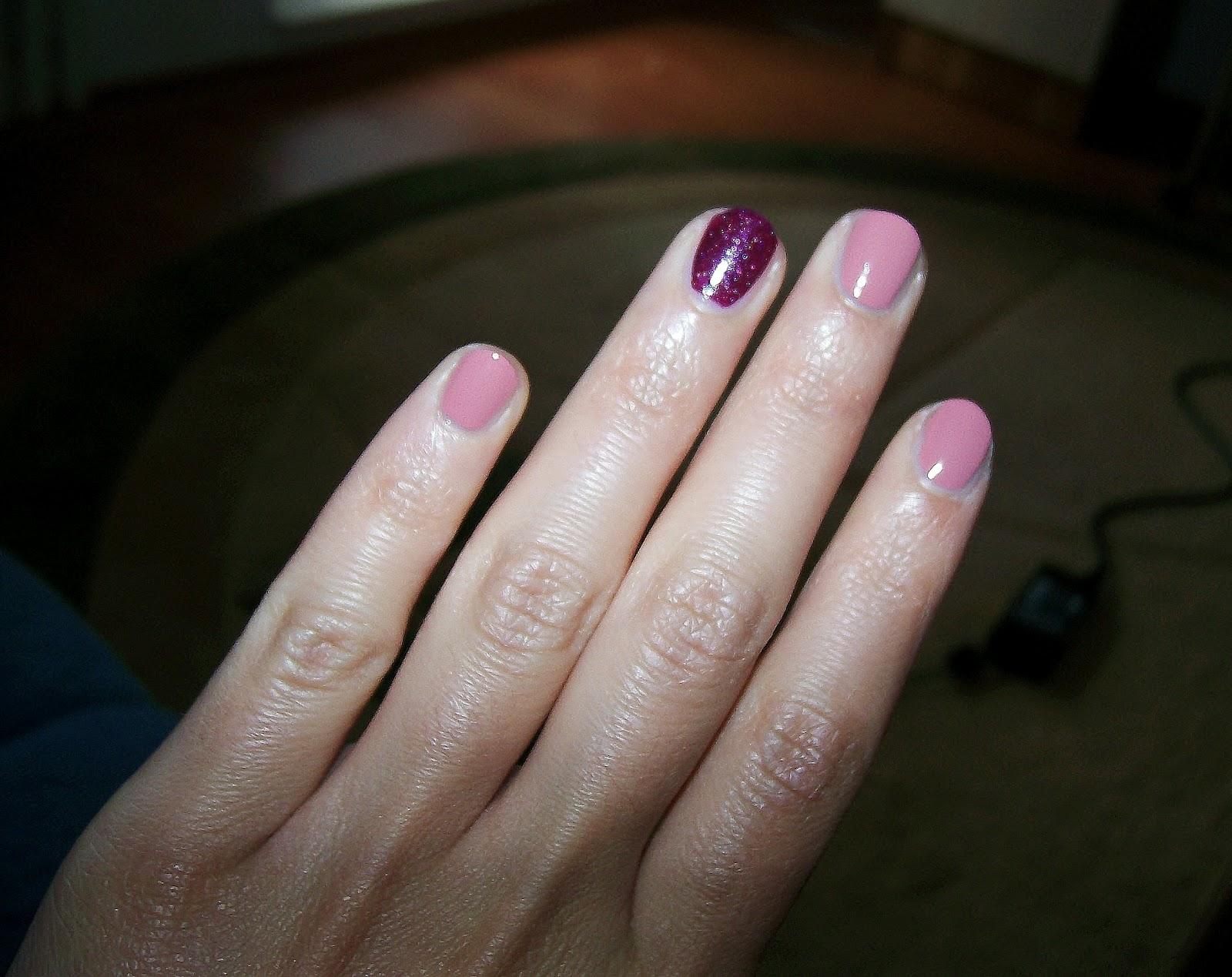 Glossy Beauty Blog Ring Finger Nail Polish La Nuova