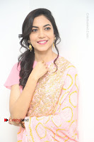 Actress Ritu Varma Pos in Beautiful Pink Anarkali Dress at at Keshava Movie Interview .COM 0341.JPG