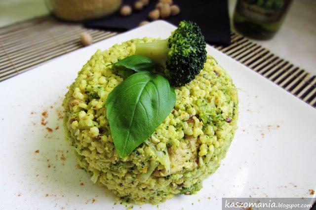 Kasza jaglana z brokułem