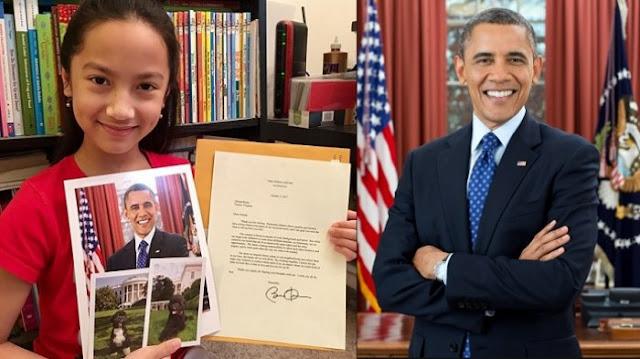 Tulis Surat ke Obama, Gadis Manis Asal Indonesia Ini Dapat Surat Balasan Mengejutkan! Begini Isinya