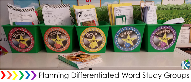 Organize! Differentiate your Word Study groups (with or without Words Their Way)! This resource is proven to help make your planning, organization, routine & implementation of differentiated Word Study and Spelling groups much easier! Your Daily 5 literacy centers and rotations or stations will run smoothly as your students will be focused on meeting their spelling & phonics goals. This resource has a Rock Star and Spelling Super Star theme that motivates students.