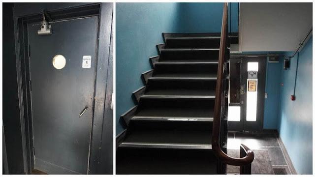 Copenhagen downtown hostel escaleras y ascensor