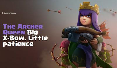 Rincian informasi strategi dan biaya upgrade Archer Queen di COC