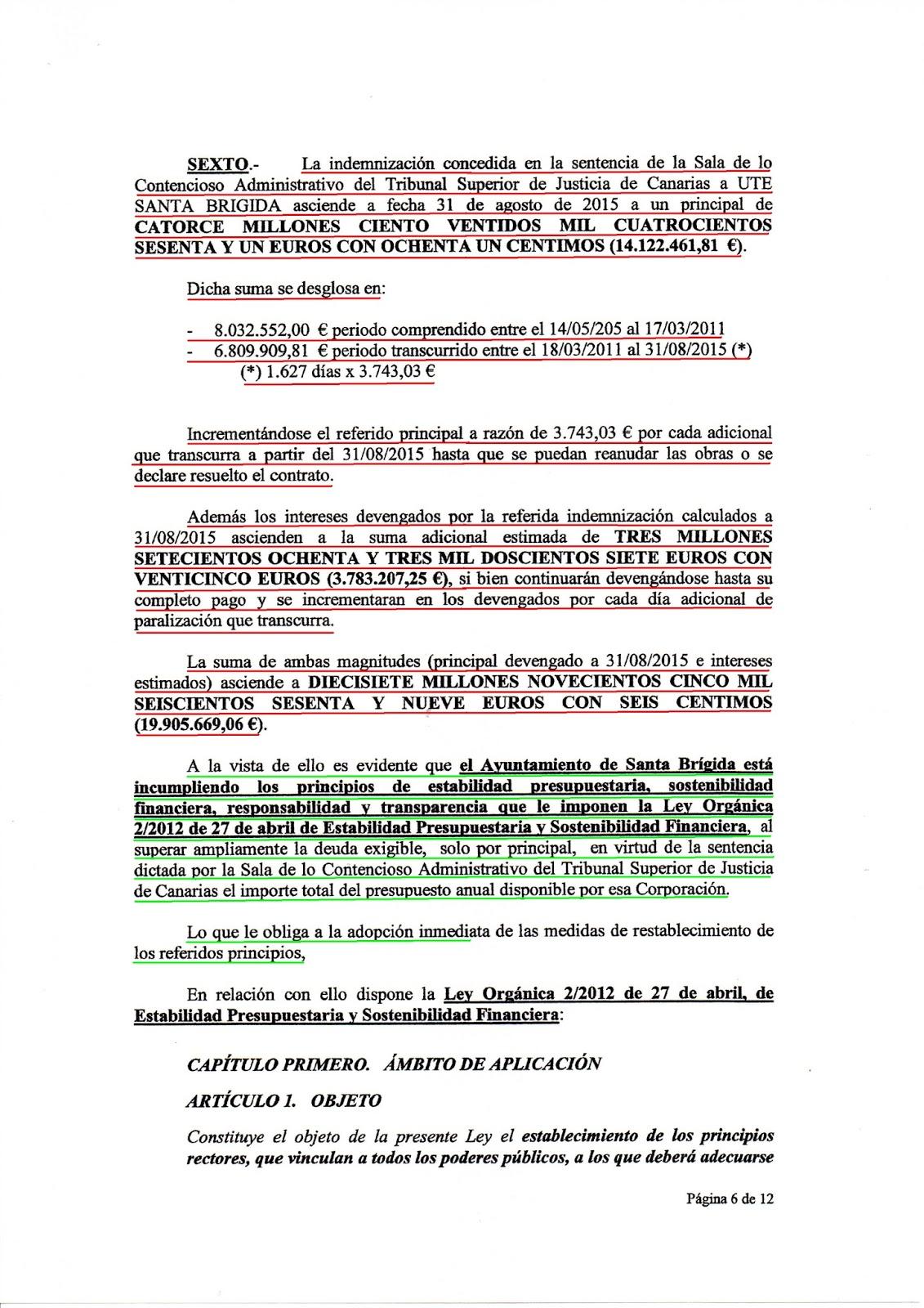 ARMENGOL Y CIA., HAN PERMITIDO QUE EL CONSISTORIO ESTE EN SITUACION ...