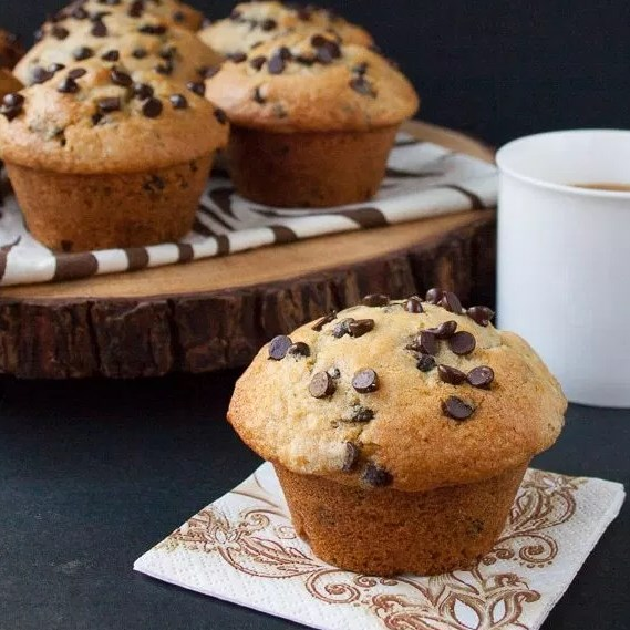 BAKERY STYLE CHOCOLATE CHIP MUFFINS #Desserts #Recipes