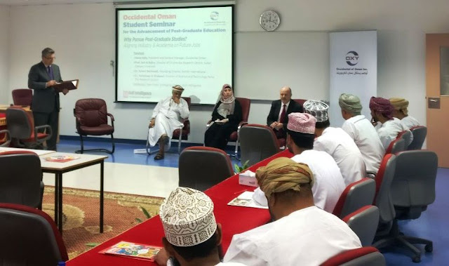 Image Attribute: Occidental Oman Student Seminar for the advancement of the Post-Graduation education at Sultan Qaboos University (SQU), Muscat, Oman / Source: The Gulf Intelligence