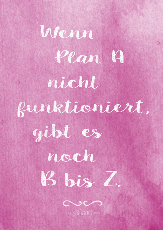 Plan A bis Z, lettering card