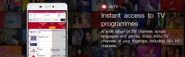 Reliance Jio aims top spot  with its Jio T.V app; offers 432 live channels and Hot star premium service to Jio TV users
