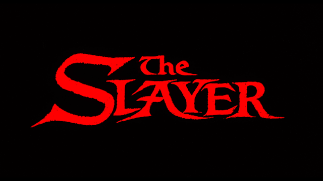 The Slayer title card