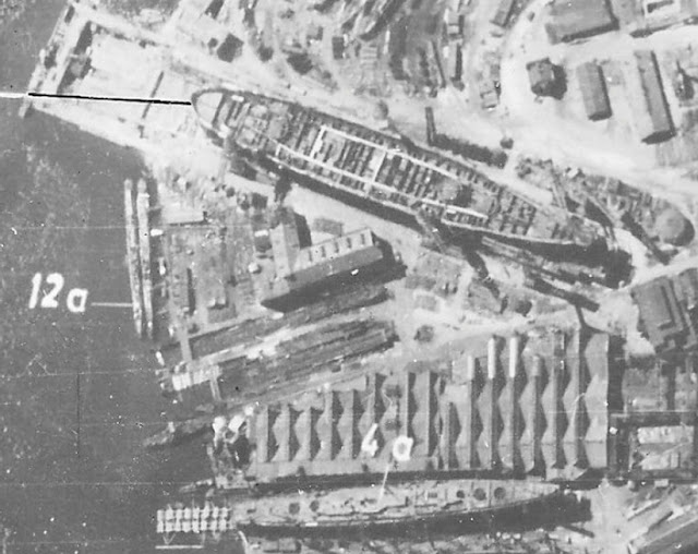 Luftwaffe aerial reconnaissance photo of the Baltic Shipyard, Leningrad 26 June 1941 worldwartwo.filminspector.com