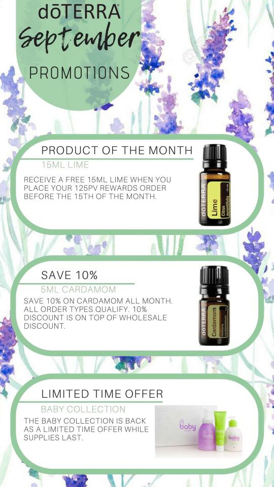 doTERRA Specials and Product of the Month - September 2018   Essential Oils For Daily Living