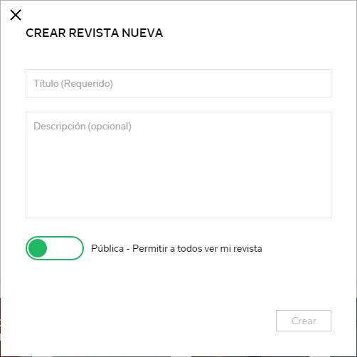 Flipboard Crear Revista Nueva