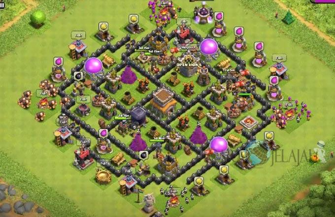 Base Hybrid TH 8 Clash Of Clans Terbaru Tipe 5