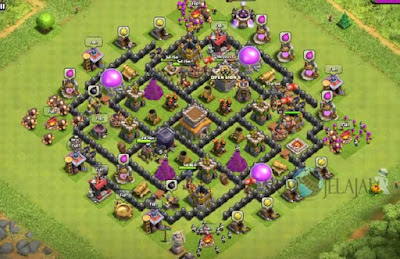 Base Hybrid TH 8 Clash Of Clans Terbaru Tipe 5