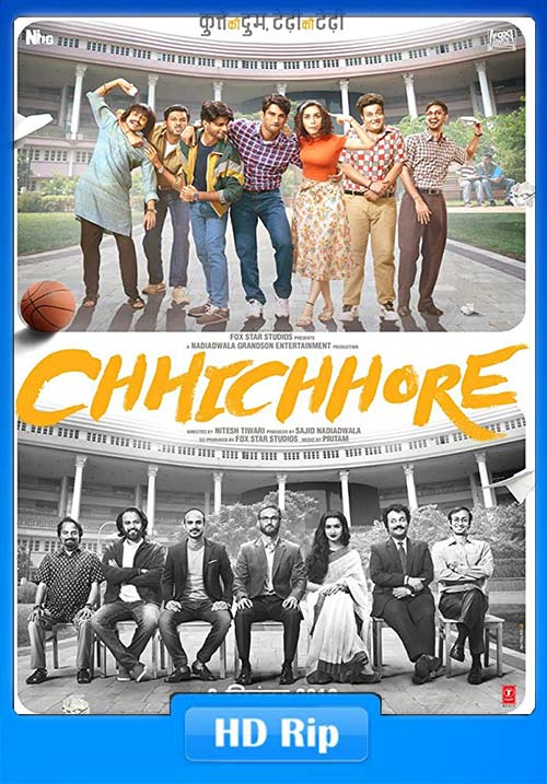 Chhichhore 2019 Hindi 720p WEB-DL ESub x264 | 480p 300MB | 100MB HEVC