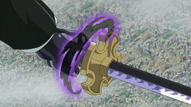 zoro menggunakan haki ke pedangnnya