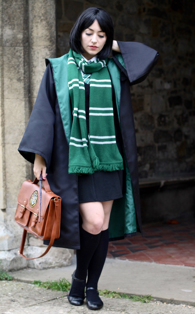 Pansy Parkinson Slytherin from Harry Potter easy homemade Halloween costume