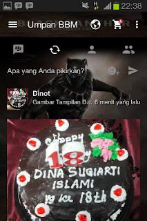 BBM Mod Tema Black Panther v2.13.1.14 Apk For Android Terbaru