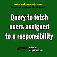 Query to fetch users assigned to a responsibility, www.askhareesh.com