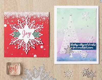 Stampin' Up! Snow is Glistening ~ Snowflake Showcase ~ November 2018